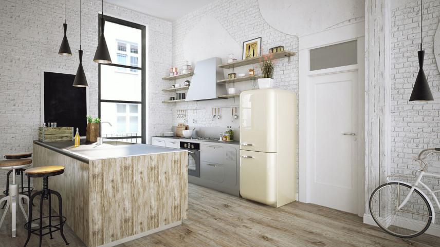 Biała cegła na ścianie w kuchni, salonie - pomysł na cegłę w nowoczesnych wnętrzach