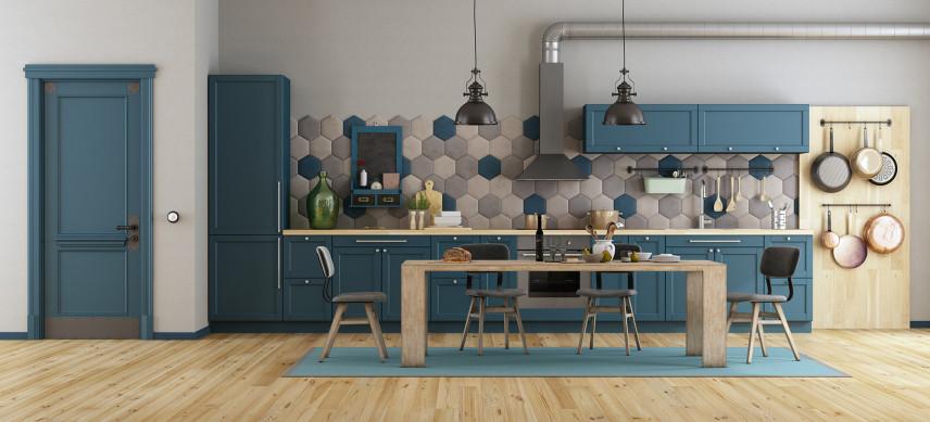Mozaika niebiesko-szara
