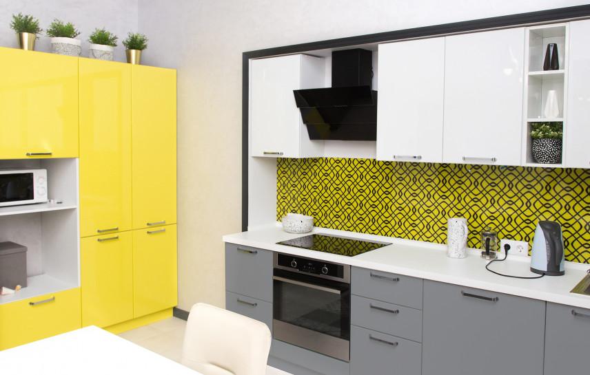 Żółto-czarna mozaika