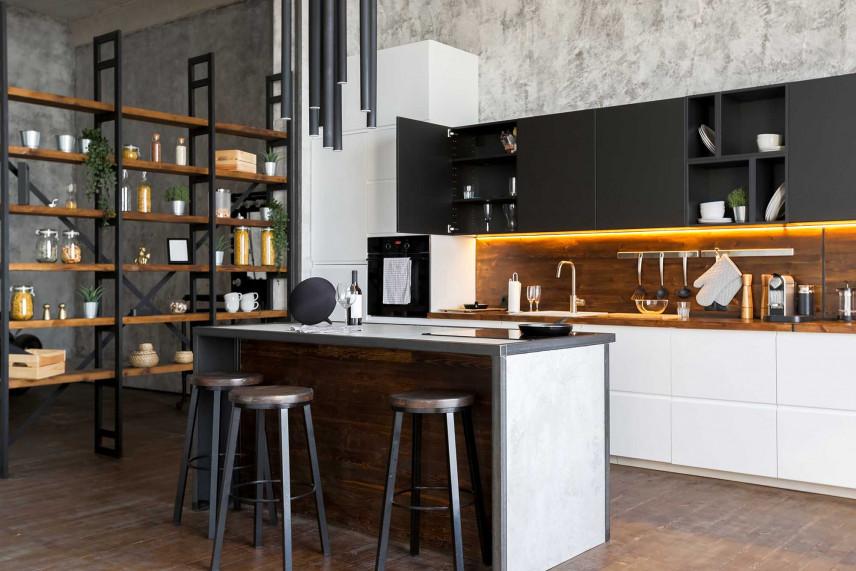 Kuchnia z szafkami