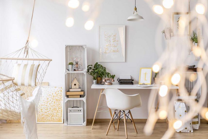 Kącik biurowy w stylu skandynawskim