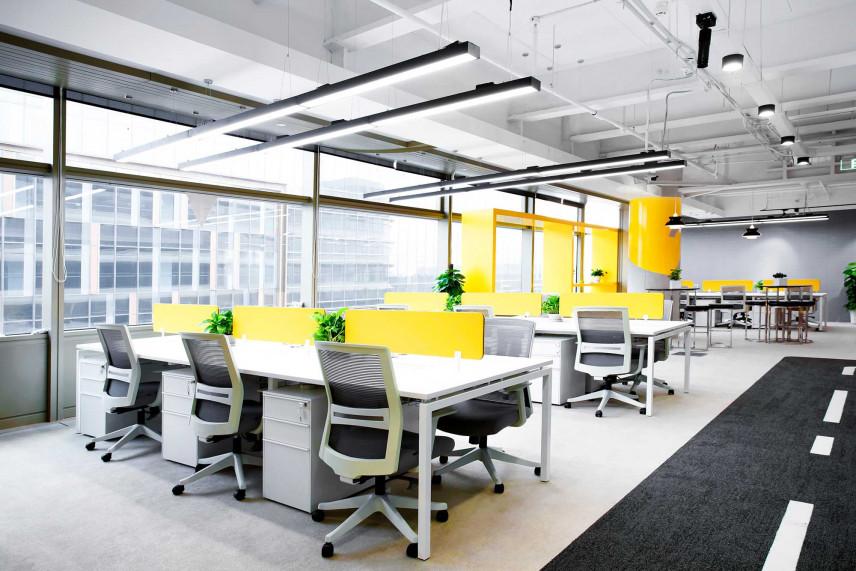 Nowoczesne biuro w stylu industrialnym