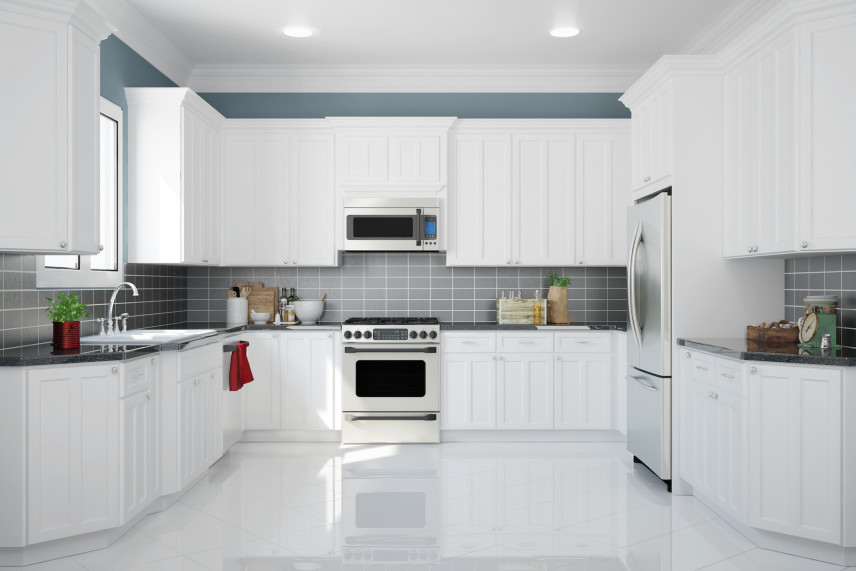 Biała kuchnia w kształcie litery U