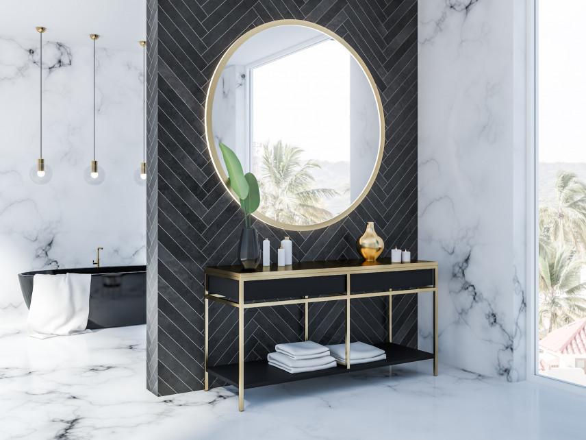 Elegancka czarno-biała łazienka