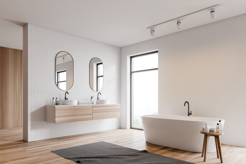 Minimalistyczna łazienka w stylu skandynawskim