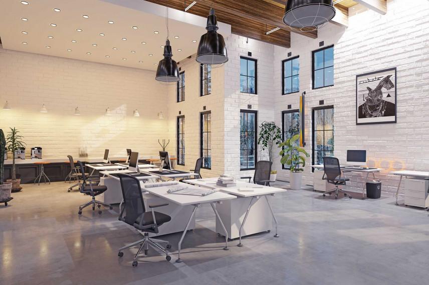 Duże biuro w stylu skandynawskim
