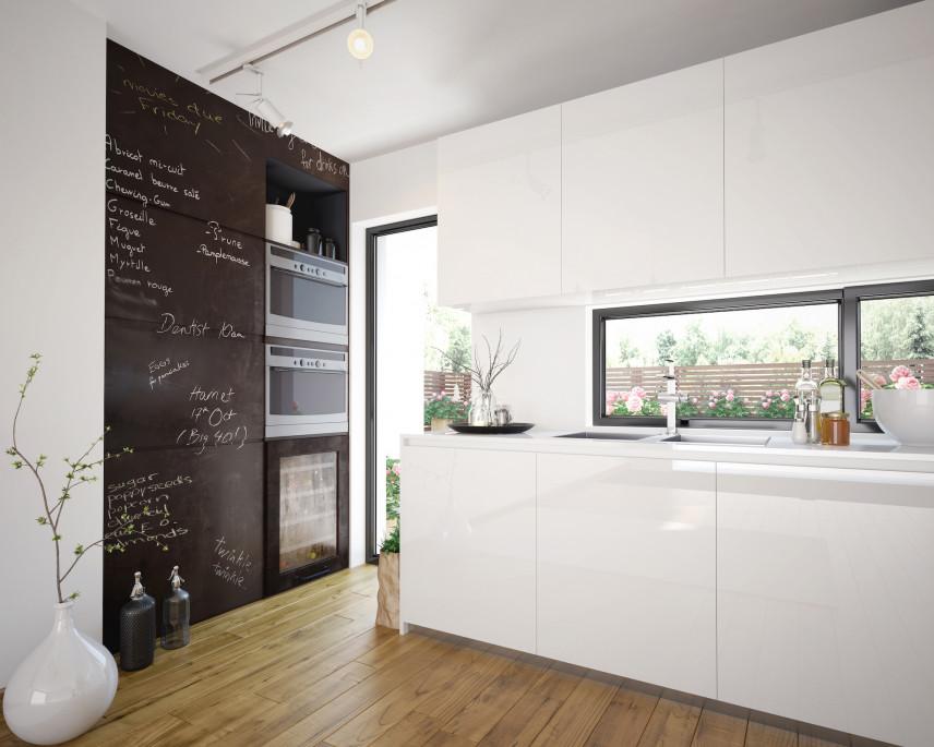 Tablicowa ściana w kuchni