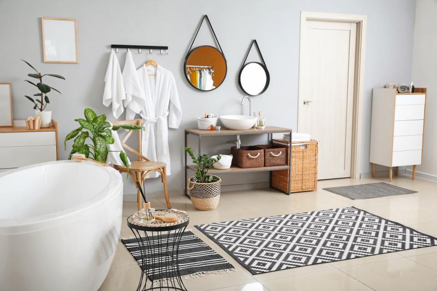 Łazienka w stylu boho-skandynawskim