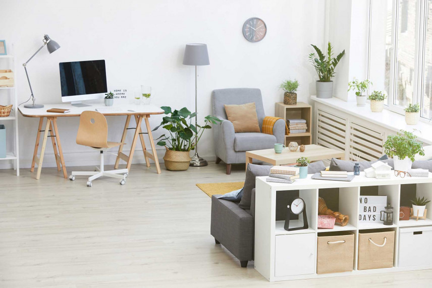 Przytulne biuro w stylu skandynawskim
