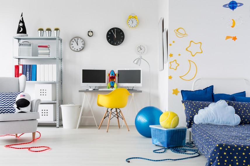 Kosmiczny pokój dla dziecka