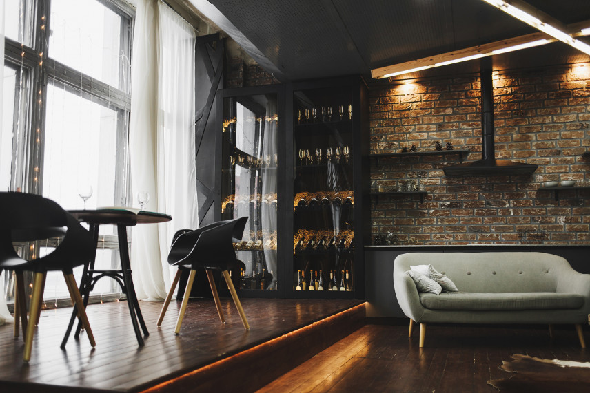 Klasyczny, elegancki salon