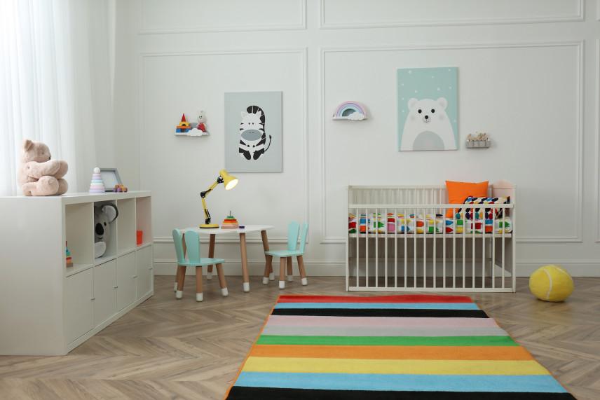 Pokój dla dziecka w kolorze miętowym