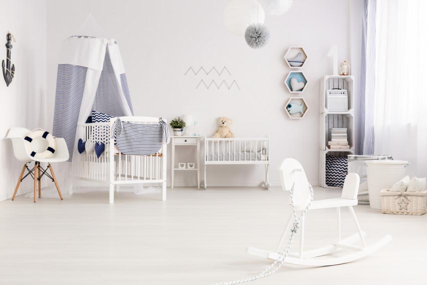 Urządzony pokój dla noworodka