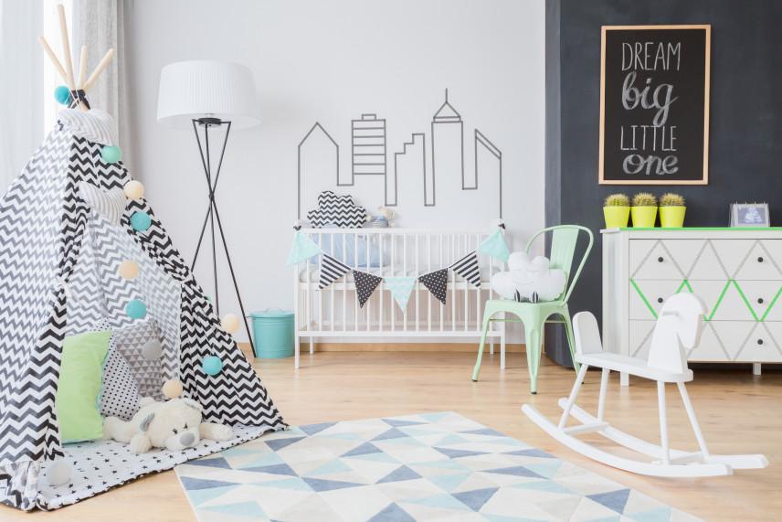 Dywan w pokoju dla noworodka