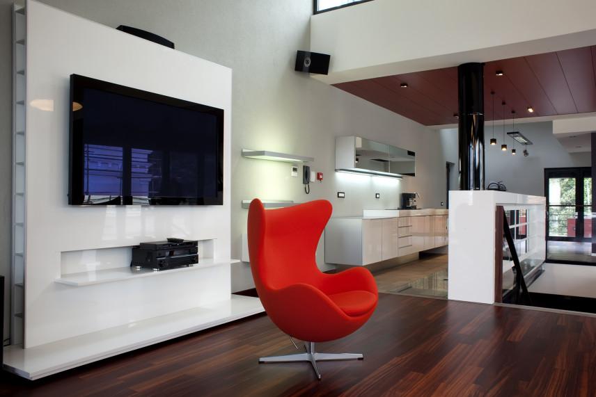 Designerski salon z telewizorem