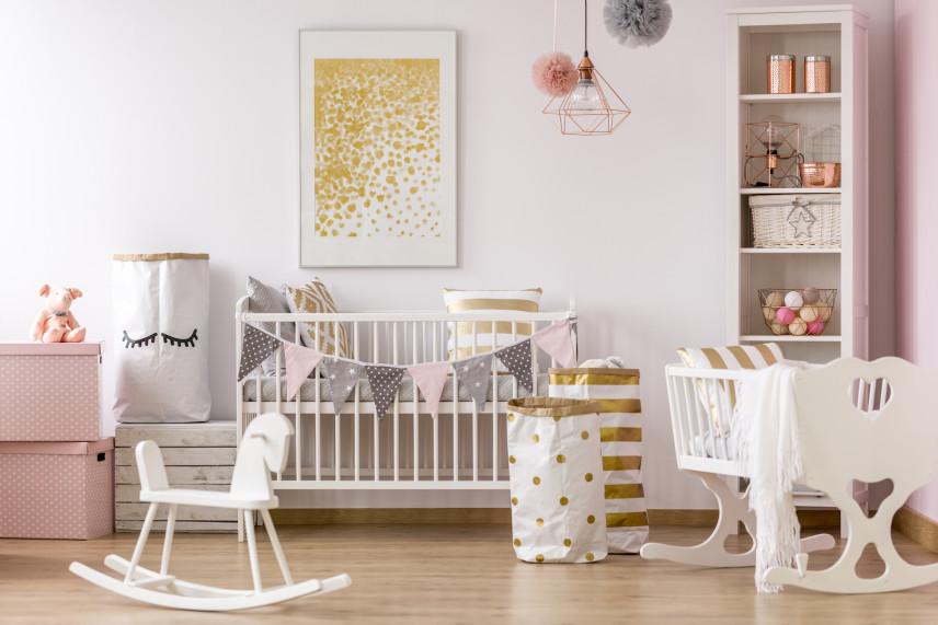 Różowy pokój dla dziecka
