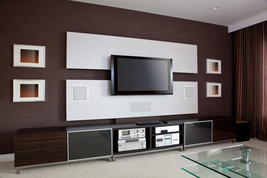 Designerska ściana z telewizorem