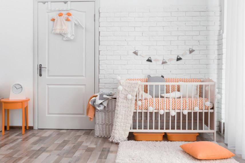 Pokój dla noworodka w stylu retro