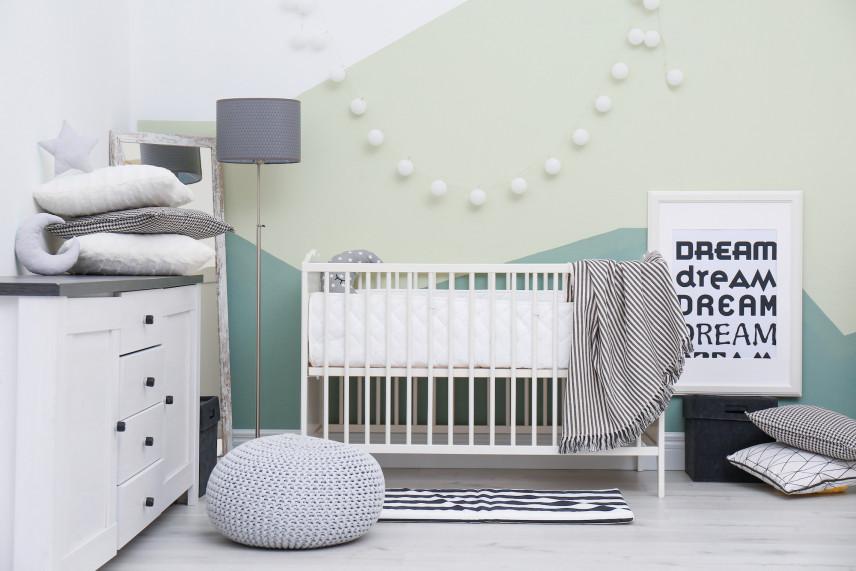 Projekt zielonego pokoju dla noworodka