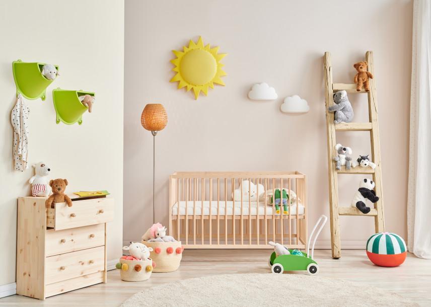 Dodatki w pokoju dla noworodka