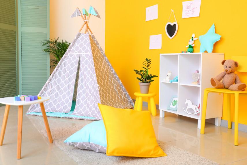 Namiot tipi w pokoju dziecka