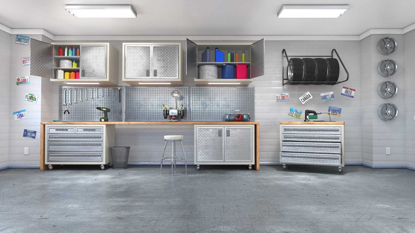 Projekt nowoczesnegom przestronnego garażu
