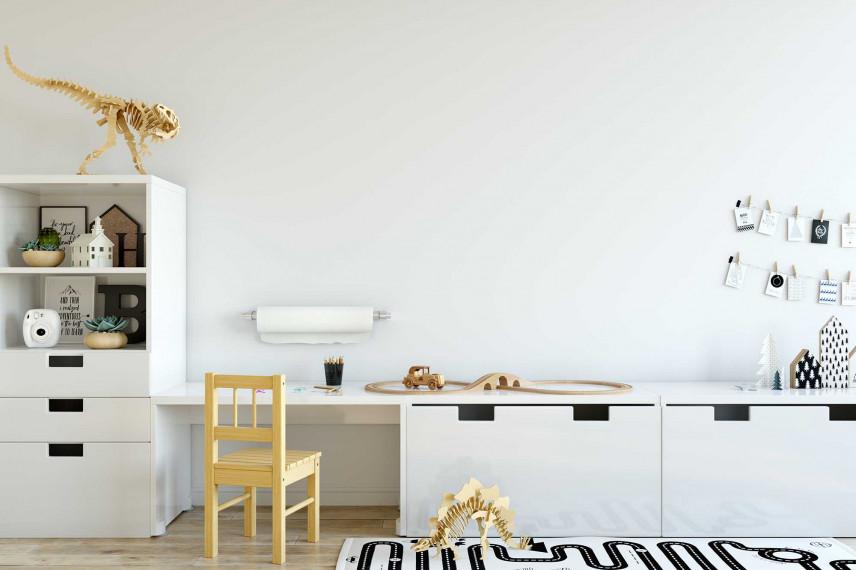 Pokój z białymi meblami