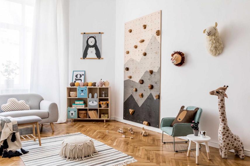 Pokój ze ścianą wspinaczkową