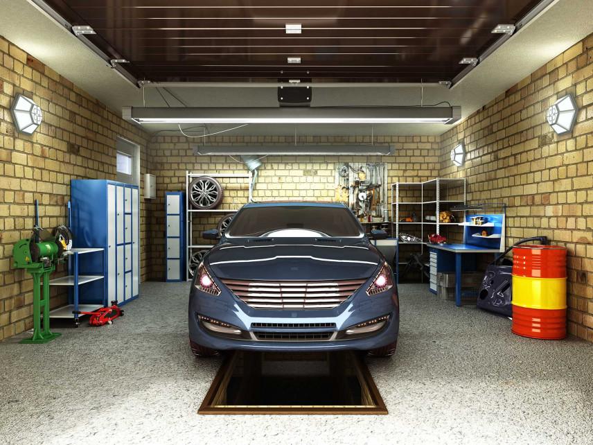 Pojedynczy garaż z kanałem