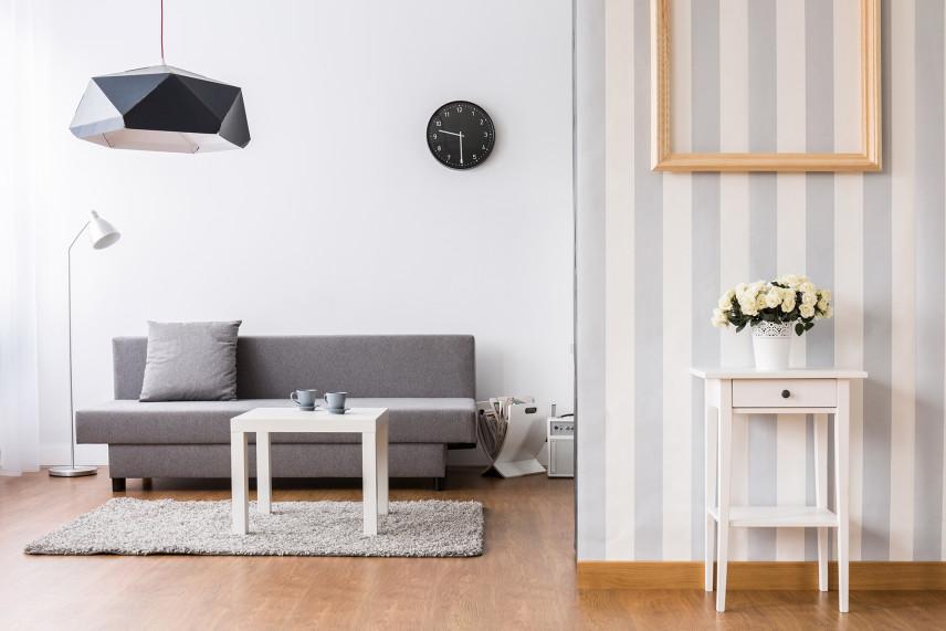 Mały salon z kanapą