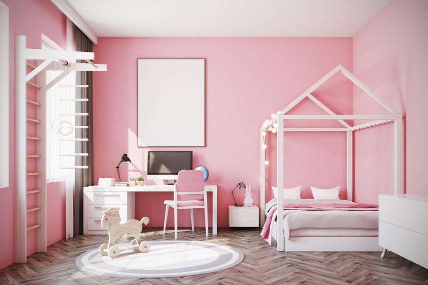 Pokój w kolorze różowym