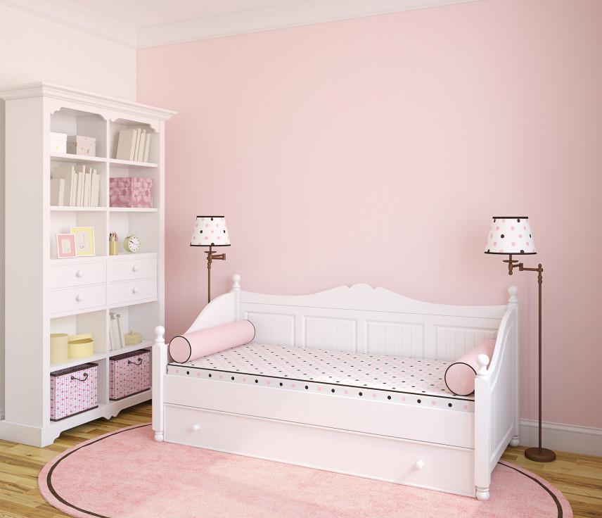 Skandynawskie białe łóżko