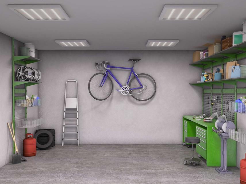 Garaż jednostanowiskowy z wieszakiem rowerowym