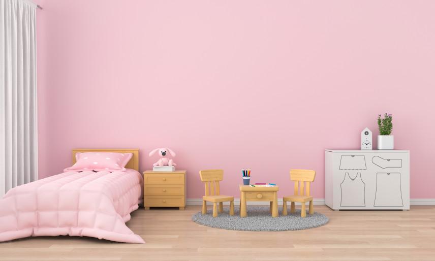 Różowy pokój dla najmłodszych