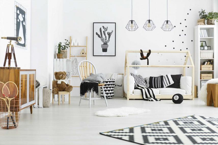 Biało-czarny dywan