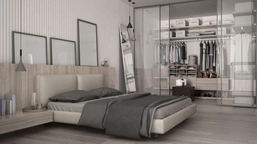Przeszklona garderoba