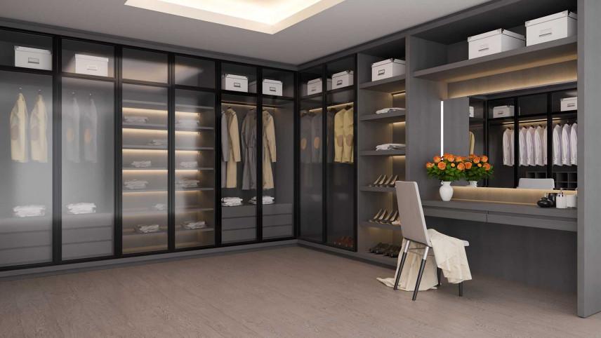 Garderoba za szkłem