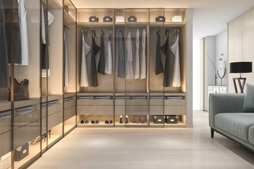 Podświetlana garderoba