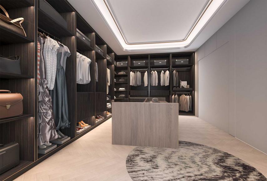 Garderoba w stylu amerykańskim