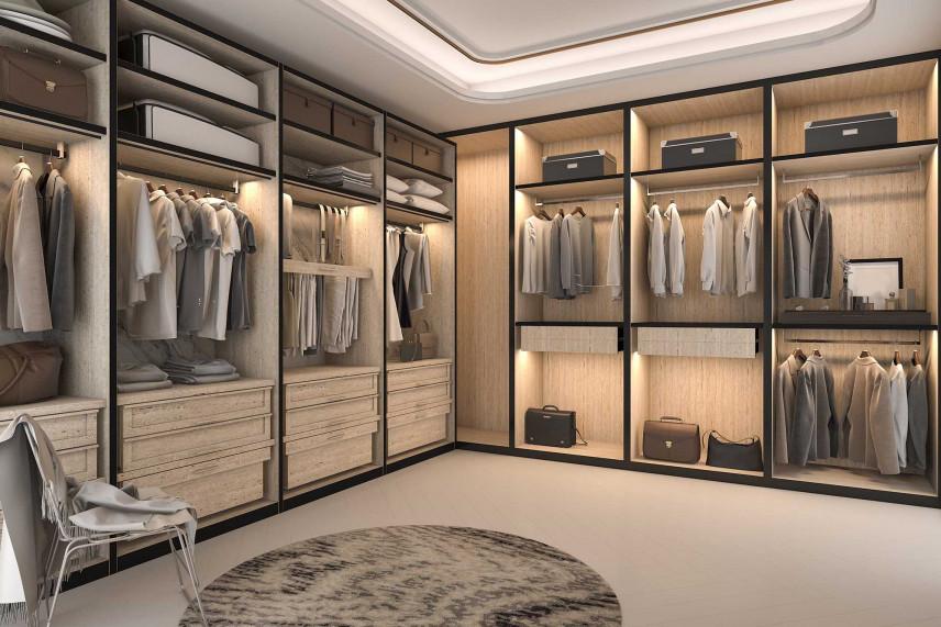Podświetlenie w garderobie