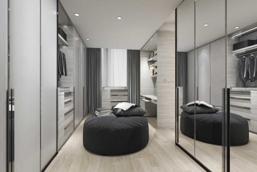 Garderoba z przesuwanymi drzwiami