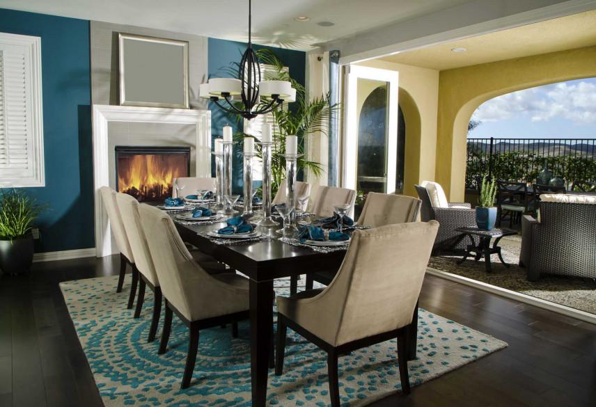 Jadalnia z dywanem