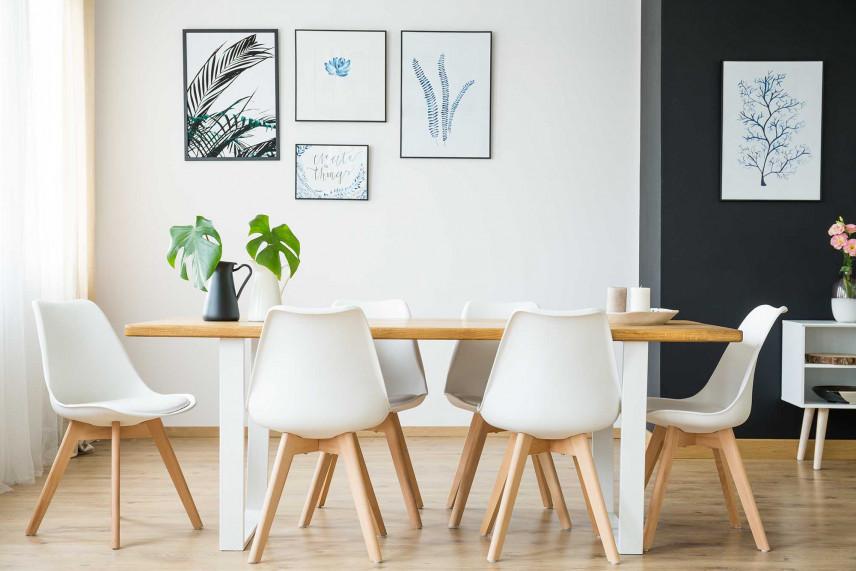 Nowoczesny biały stół