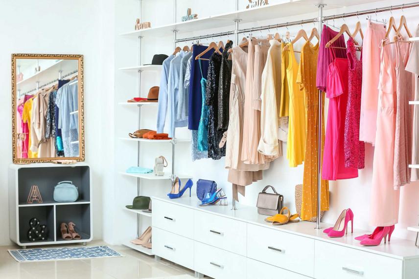 Garderoba w stylu vintage