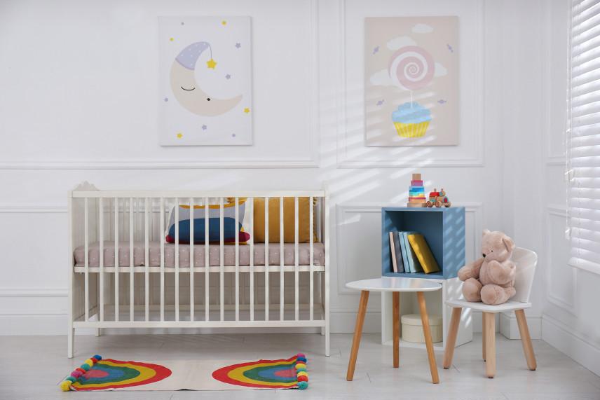 Pastelowy pokój noworodka