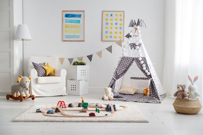 Pokój dziecięcy z wigwanem