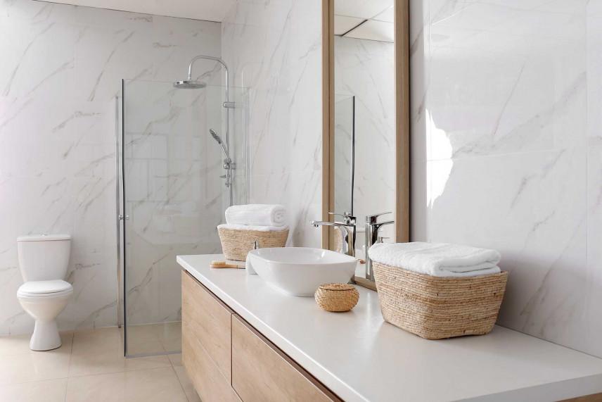 Stylowa mała łazienka
