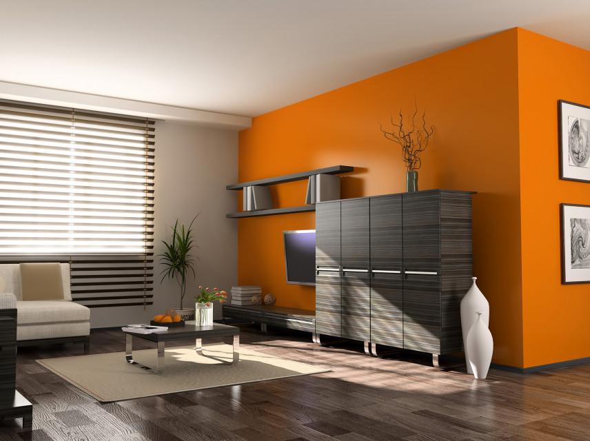 Pomarańczowy salon