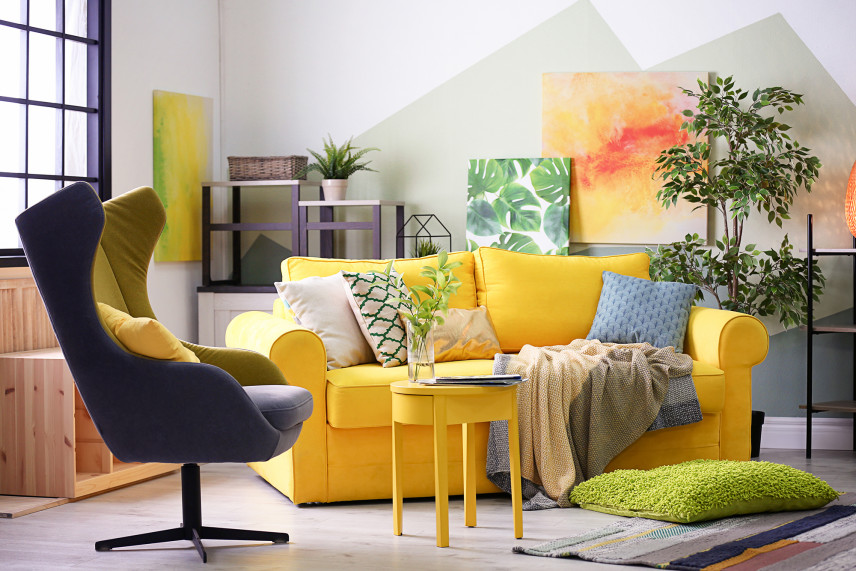 Stylowe żółte meble