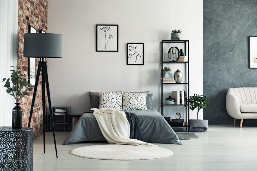 Salon połączony z sypialnią